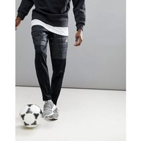 Adidas tango football padded joggers in black br1527 - black