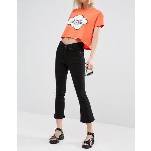 Cheap Monday Drift High Rise Skinny Ankle Kick Jeans - Black