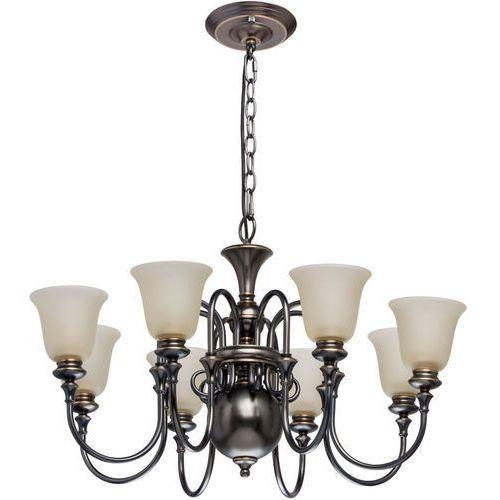 Duża lampa wisząca na 8 żarówek, szklane klosze neoclassic (102010608) marki Mw-light
