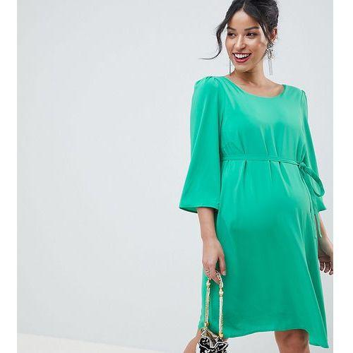 Mamalicious shift dress with cross back detail - green, Mama.licious, 34-42