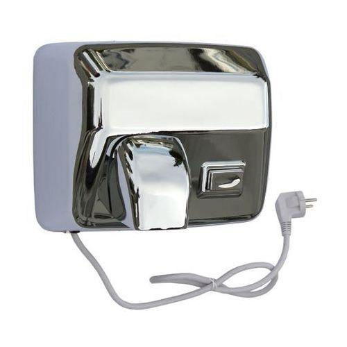 Elektryczna suszarka do rąk starflow z przyciskiem - obudowa metalowa, stal polerowana marki Merida