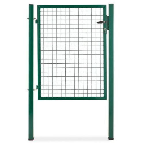 Furtka panelowa uniwersalna ze słupkami Blooma 1 x 1,2 m ocynk zielona (3663602730842)