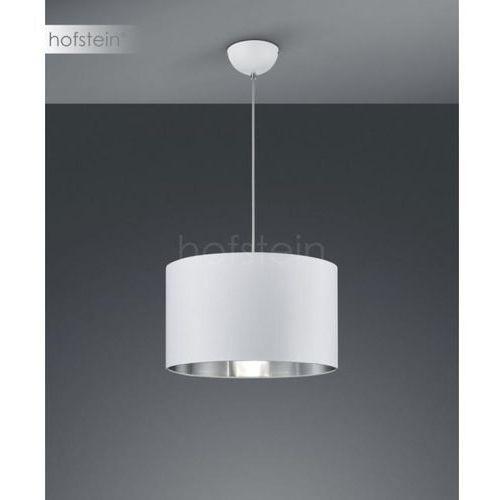 LAMPA wisząca HOSTEL 308200189 Trio okrągła OPRAWA abażurowy zwis biały srebrny (4017807392524)