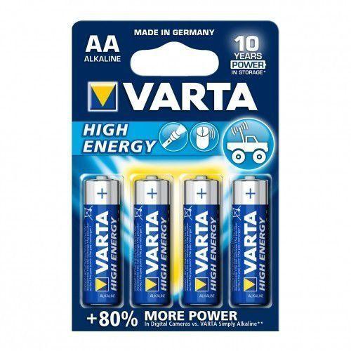 baterie alkaliczne r6 aa 4szt high energy marki Varta
