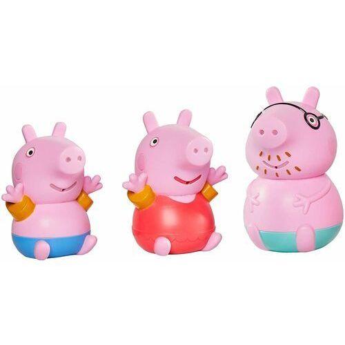Świnka peppa figurki do wody z świnką tatą 3szt marki Tomy
