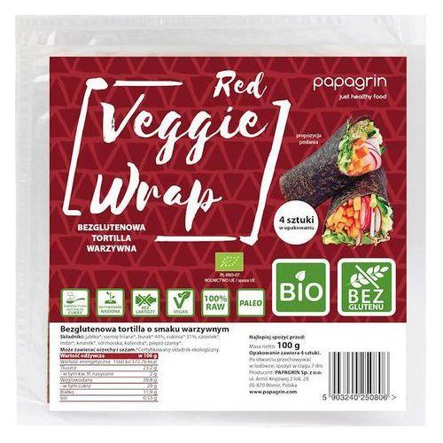 Tortilla Wraps Warzywna Czerwona Bezglutenowa BIO 100 g Papagrin (5903240250806)