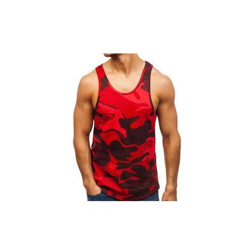 Koszulka tank top męska z nadrukiem moro-czerwona denley 171321, Breezy