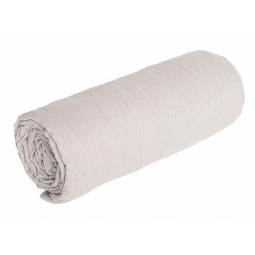 Sia Prześcieradło z gumką legero z muślinu bawełnianego – 180 × 200 cm – kolor szary