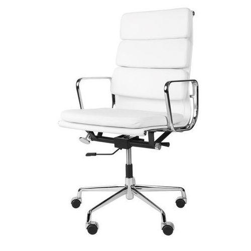 D2.design Fotel biurowy ch inspirowany ea219 skóra, chrom - biały