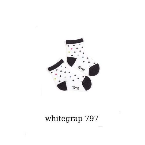 Skarpety Wola Girl Wzorowane W14.01P 0-2 lata 15-17, whitejean/biały-jeans, Wola, W1401P797010W24