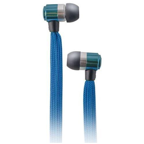 Słuchawki dokanałowe FOREVER Sznurówka z mikrofonem Niebieski