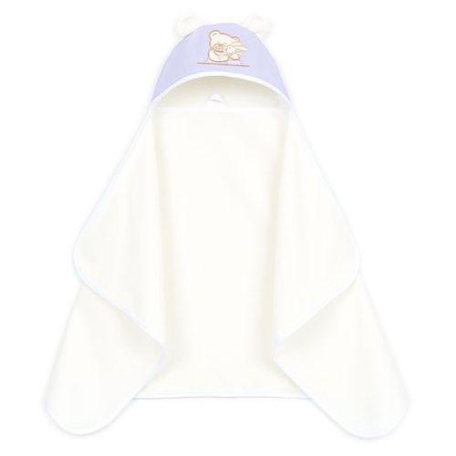 okrycie ręcznik kąpielowy z kapturem 70x120 - wrzos / ecru marki Mamo-tato