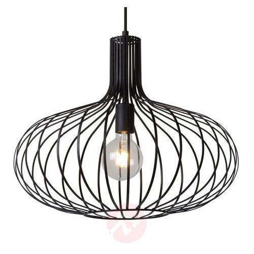 Lucide 78374/50/30 - Lampa wisząca MANUELA 1xE27/60W/230V czarna 50 cm (5411212782045)