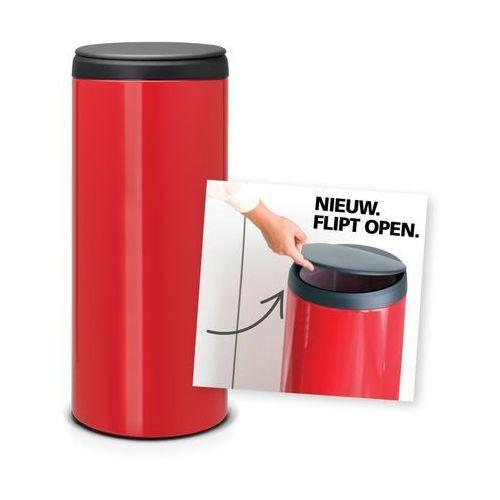 Brabantia - Kosz 'Flip Bin' - wiaderko plastikowe - 30 L - czerwony