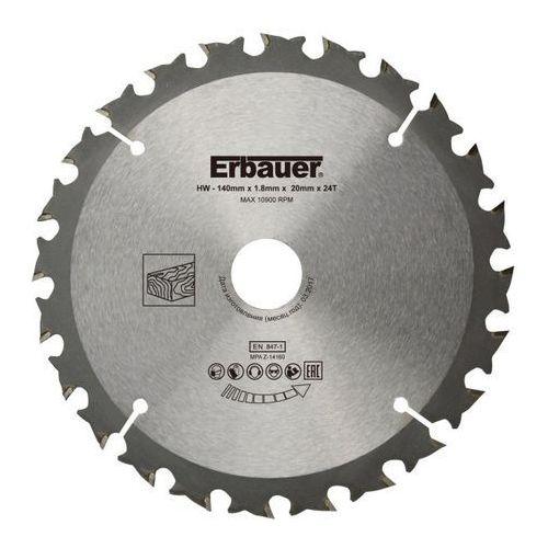 Tarcza do drewna Erbauer 140 x 20 mm 24T, SCT29394