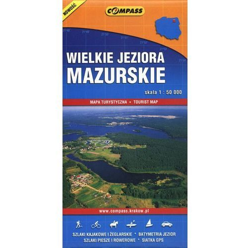 Wielkie Jeziora Mazurskie mapa turystyczna (9788376052250)
