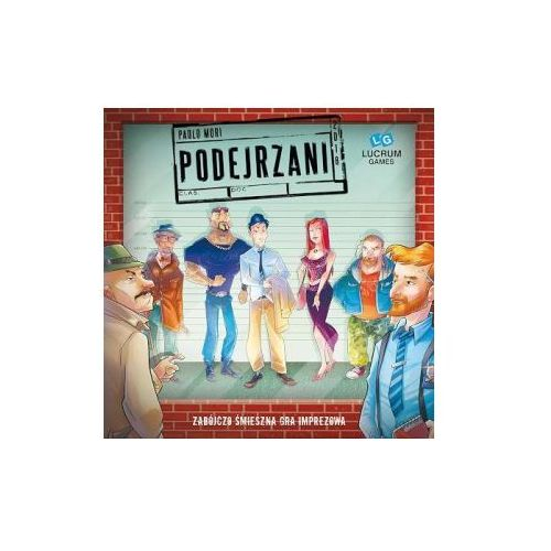 Podejrzani. gra planszowa marki Lucrum games