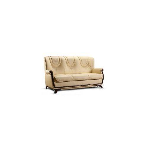 Sofa FRYDERYK 3 ( nierozkładana - SKÓRA NATURALNA ), FRYD-0011