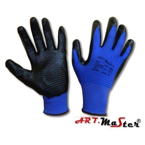 Rękawice robocze ochronne dziane z poliestru powlekane nitrylem RNIT PAS KAT II 9