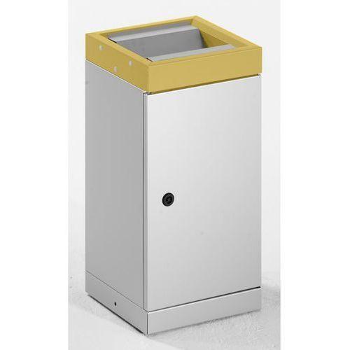Stumpf-metall Pojemnik na surowce wtórne z pokrywą uchylną, pojedynczy, pojemność: 30 l, kolor