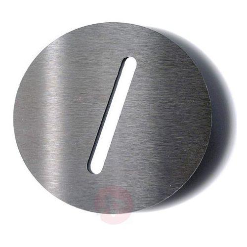 Absolut/ radius Tabliczka z numerem domu round, stal szl. /