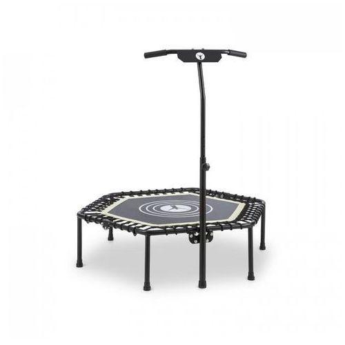 """Klarfit jumpanatic trampolina fitness 44"""" / 112 cm Ø drążek z uchwytem składana biała (4260509687539)"""