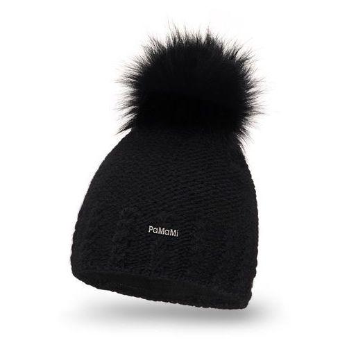 Zimowa czapka damska PaMaMi - Czarny - Czarny, kolor czarny