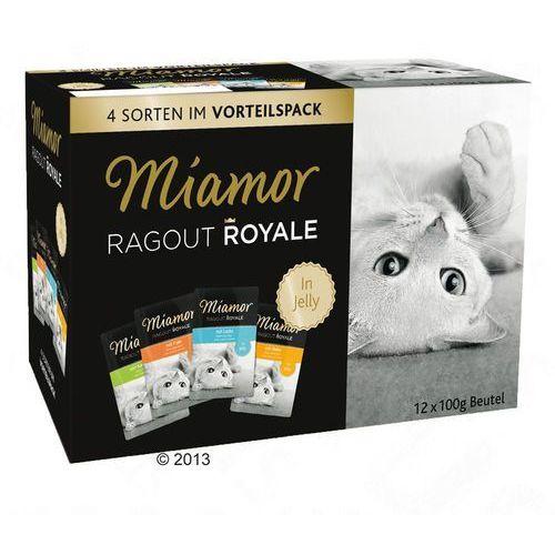 Miamor Zestaw ragout royale, 12 x 100 g - indyk, łosoś i cielęcina (4000158640994)