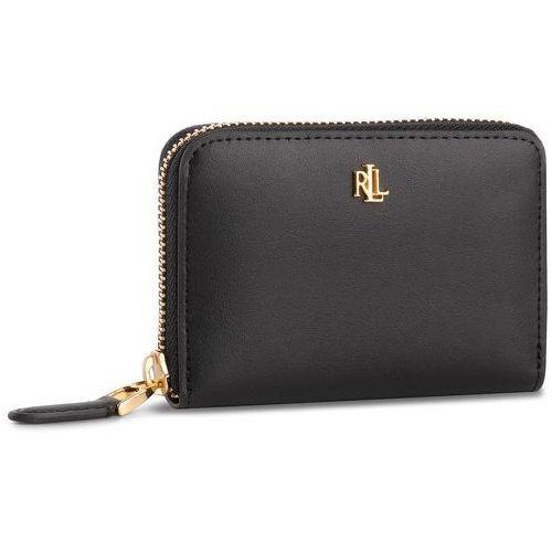 Mały portfel damski - sm zip wllet 432754175001 blk/porcn marki Lauren ralph lauren