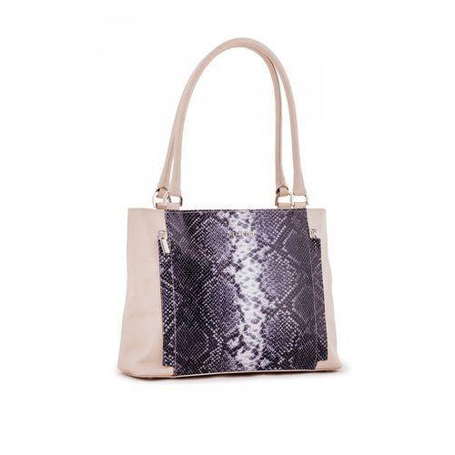 Beżowa torebka ze skóry naturalnej - marki Franco bellucci
