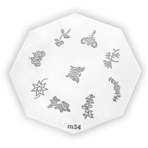 metal plate for nail art płytka metalowa do zdobień - 17 marki Neonail