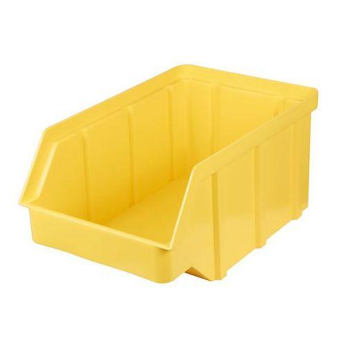 Plastikowy pojemnik warsztatowy - wym. 118 x 78 x 56 - kolor żółty