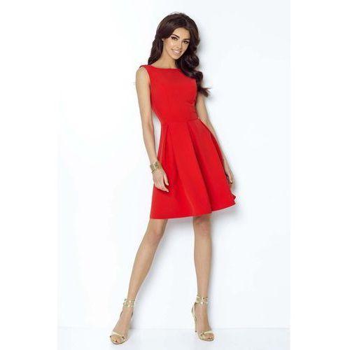 ce607c33a1 Czerwona Koktajlowa Sukienka bez Rękawów... Producent IVON ...