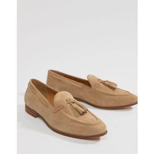 Kg by kurt geiger wide fit tassel loafers in camel suede - beige marki Kg kurt geiger