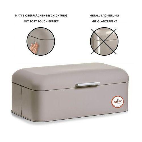 Metalowy chlebak RUBBER, pojemnik na pieczywo, 43x23x17 cm (4003368272962)