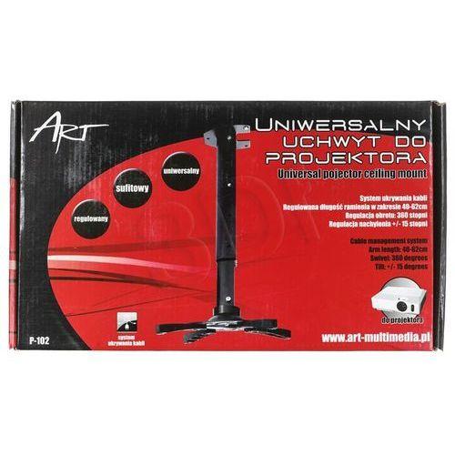 ART Uchwyt P-102 *40-62cm* do projektora czarny - sprawdź w wybranym sklepie