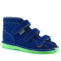 Danielki Dziecięce kapcie profilaktyczne tx105/115 blue fluoz - zielony ||niebieski