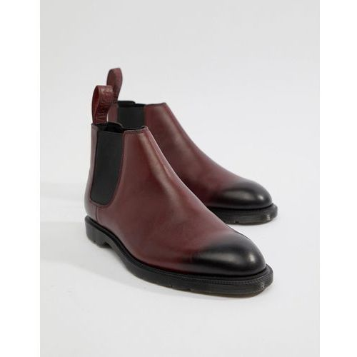Dr martens wilde temperley boots in cherry red - red