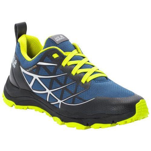 Buty sportowe męskie trail blaze vent low m blue / lime - 10,5 marki Jack wolfskin