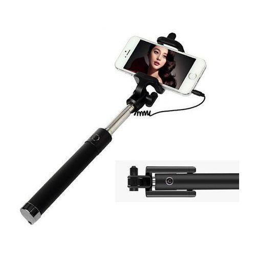 Uniwersalny uchwyt selfie stick do aparatów i smartfonów monopod - czarny marki 4kom.pl