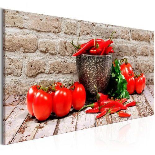Obraz - czerwone warzywa (1-częściowy) cegła wąski marki Artgeist