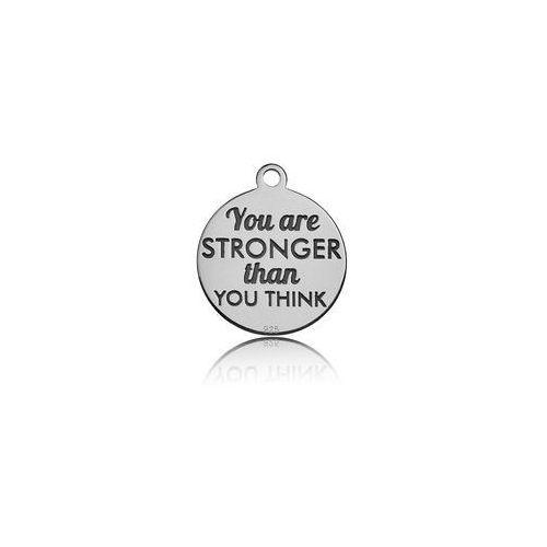Zawieszka grawerowana You are stronger than you think, srebro 925 BL 387