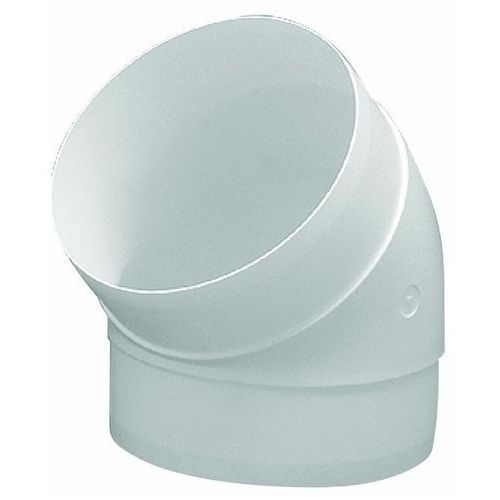 Kolanko okrągłe 125 mm białe 45 st. marki Vents