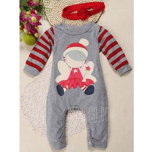 Baby Toddler Newborn Stripe Little Girl Printed Christmas Bodysuit Romper Jumpsuit - sprawdź w wybranym sklepie