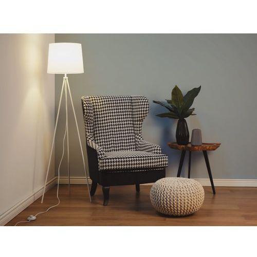 Lampa stojąca biała - podłogowa - dekoracyjna - oświetlenie - SAMBRA