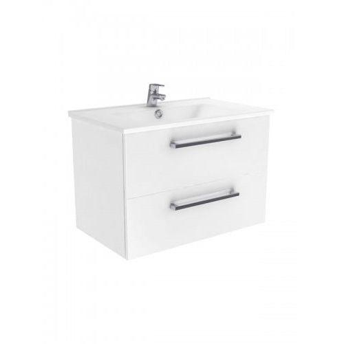 New trendy fargo szafka wisząca + umywalka biały połysk 55 cm ml-8055/067200-u