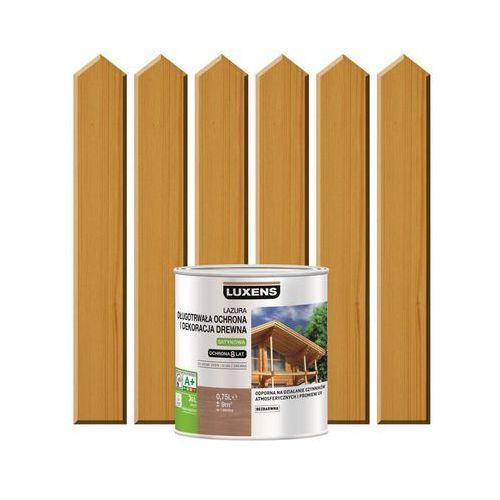 Lazura do drewna długotrwała ochrona i dekoracja drewna 0,75 ldąb naturalny marki Luxens