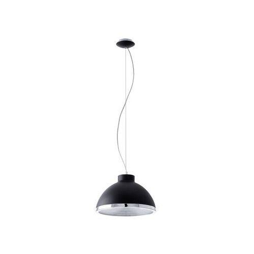 LAMPA wisząca DEBED 92134 Eglo metalowa OPRAWA zwis kopuła czarna, kolor Czarny