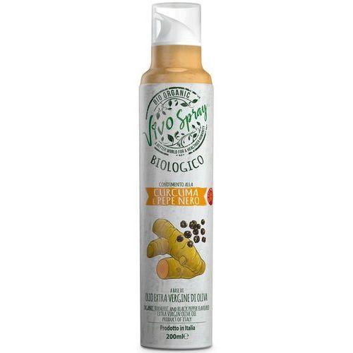 Vivo spray Oliwa z oliwek extra virgin o smaku kurkumy i pieprzu bio spray 200 ml - (8006830986615)