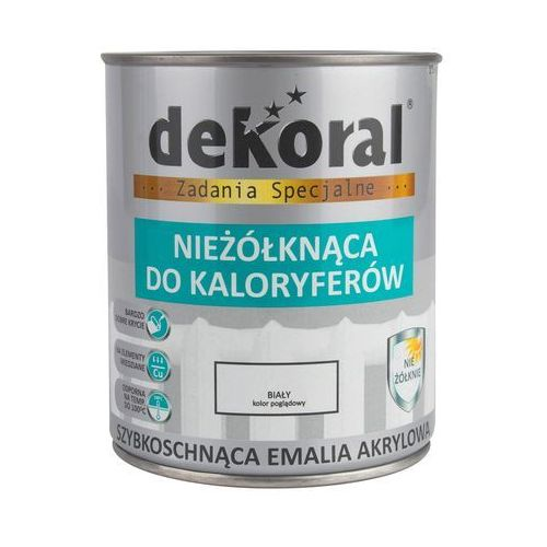 Emalia akrylowa nieżolknąca do kaloryferów 0.75 l biała połysk marki Dekoral